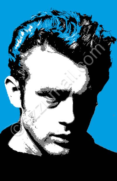 hollywood-james-dean-death-mito-idolo-baudelaire-bello-sexy-dannato-macchina-car-uomo-portrait-ritratto-dal-vero-trittico-blue-pop-art-popart-quadro-moderno-dipinto-a-mano-arredamento-contemporaneo-cool-trendy-tela-nuova-idea-regalo-originale-vip