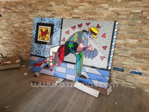 copia quadro pop art romero britto