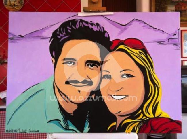 47-ritratti-foto-popart-pop-art-dipinto-a-mano-idea-regalo-quadro-coppia-fidanzamento-testimoni-nozze-sposi-matrimonio-bacio-azzumail