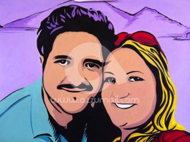 48-ritratti-foto-popart-pop-art-dipinto-a-mano-idea-regalo-quadro-coppia-fidanzamento-testimoni-nozze-sposi-matrimonio-bacio-azzumail
