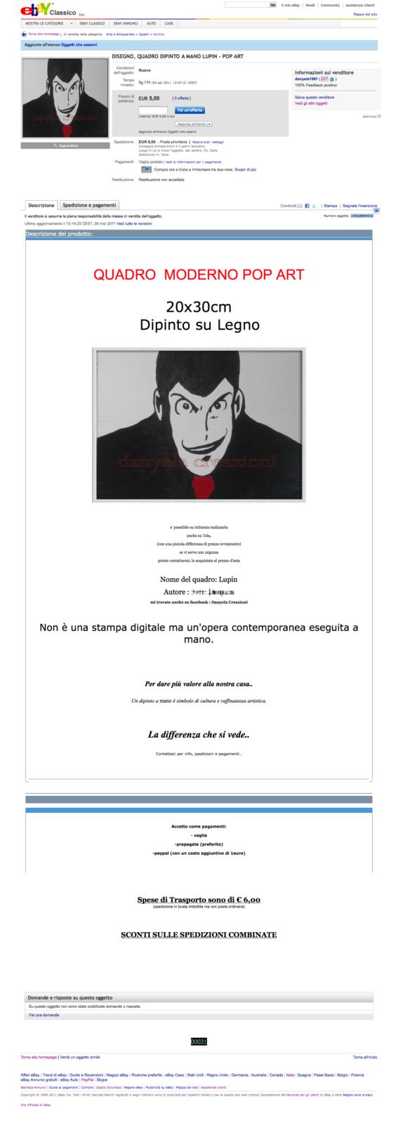 DISEGNO-QUADRO-DIPINTO-A-MANO-LUPIN-POP-ART-su-eBay.it-Acrilico-Quadri-Arte-e-Antiquariato_1301419321964_mod