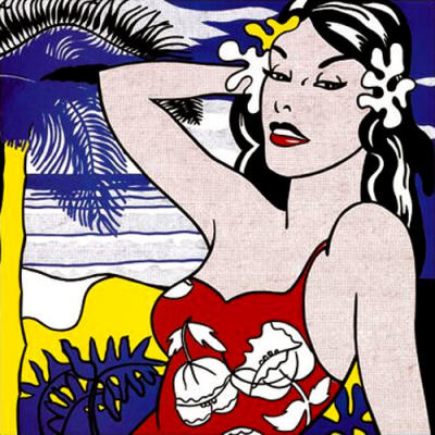 Roy-Lichtenstein-Aloha-pop-art-dipinto-quadro-shop-azzumail-vendita-arredamento-sconto-warhol-andy-falsi-autore-arte-artisti