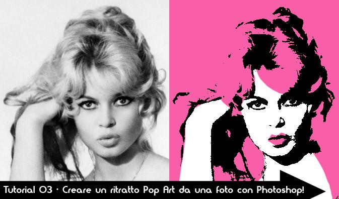 Tutorial 03 - Creare un ritratto Pop Art da una foto con Photoshop! brigitte-bardot-giovane-sexy-dipinto-quadro-pop-art-tutorial-trasformare-photoshop-soglia-pink-ritratto-portrait-hollywood-celebrita-vip-personaggi-famosi-attrice