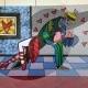 10-quadro-pop-art-popart-romero-britto-dancers-ballerini-moderno-azzumail