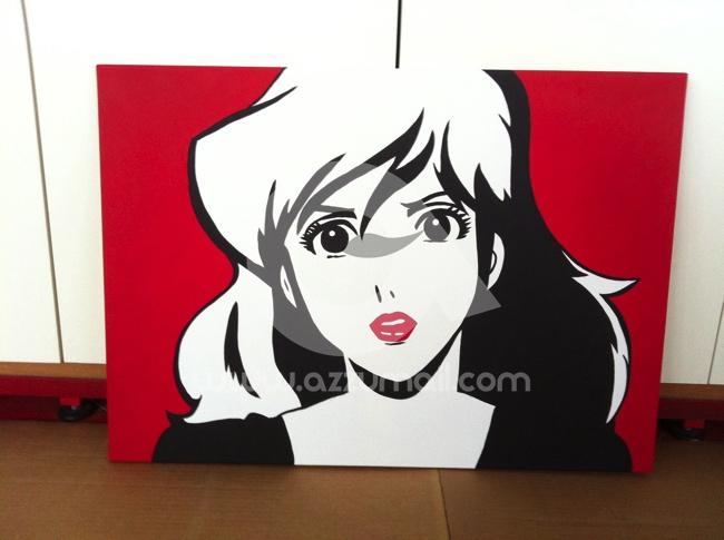 45-quadro-pop-art-popart-lupin-iii-terzo-rupan-sansei-lupin-the-third-dipinti-a-mano-vendo-cerco-compro-fijiko-margot-zenigata-jigen-goemon-azzumail