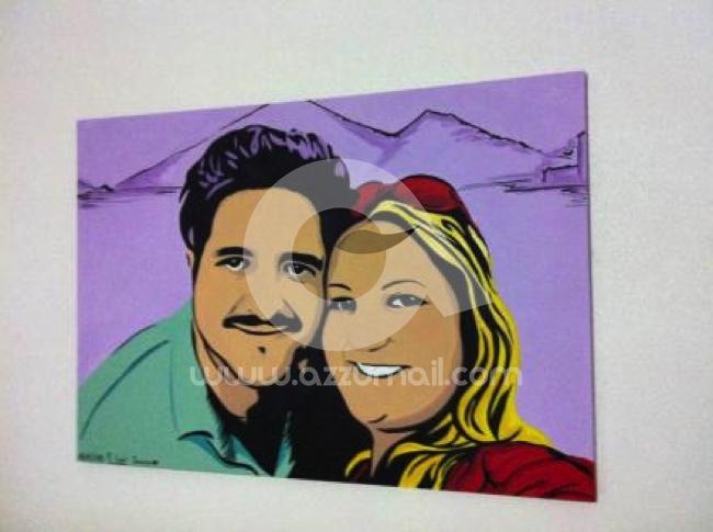 49-ritratti-foto-popart-pop-art-dipinto-a-mano-idea-regalo-quadro-coppia-fidanzamento-testimoni-nozze-sposi-matrimonio-bacio-azzumail