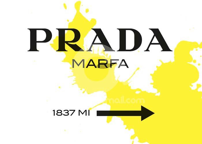 09-Quadro-gossip-girl-Prada-Marfa-Series-schizzo-giallo-originale