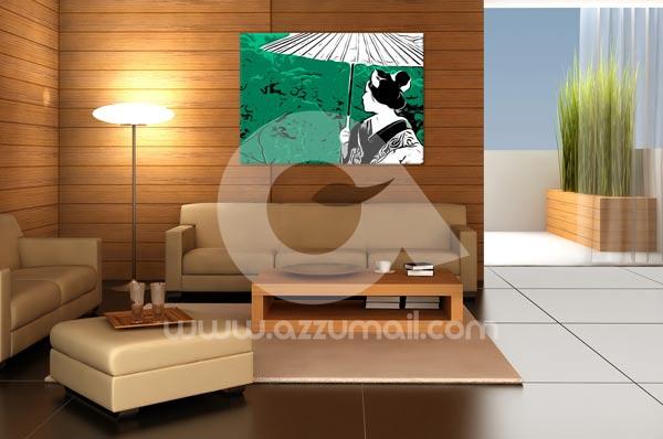 3-quadro-geisha-maiko-dipinto-a-mano-arredamento-moderno-pop-art ... - Arredamento Moderno Giapponese