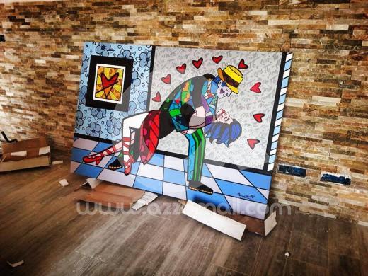 00-ritratto-quadro-pop-art-da-foto-coppia-fidanzati-bacio-quadri-salotto-tango-ballo