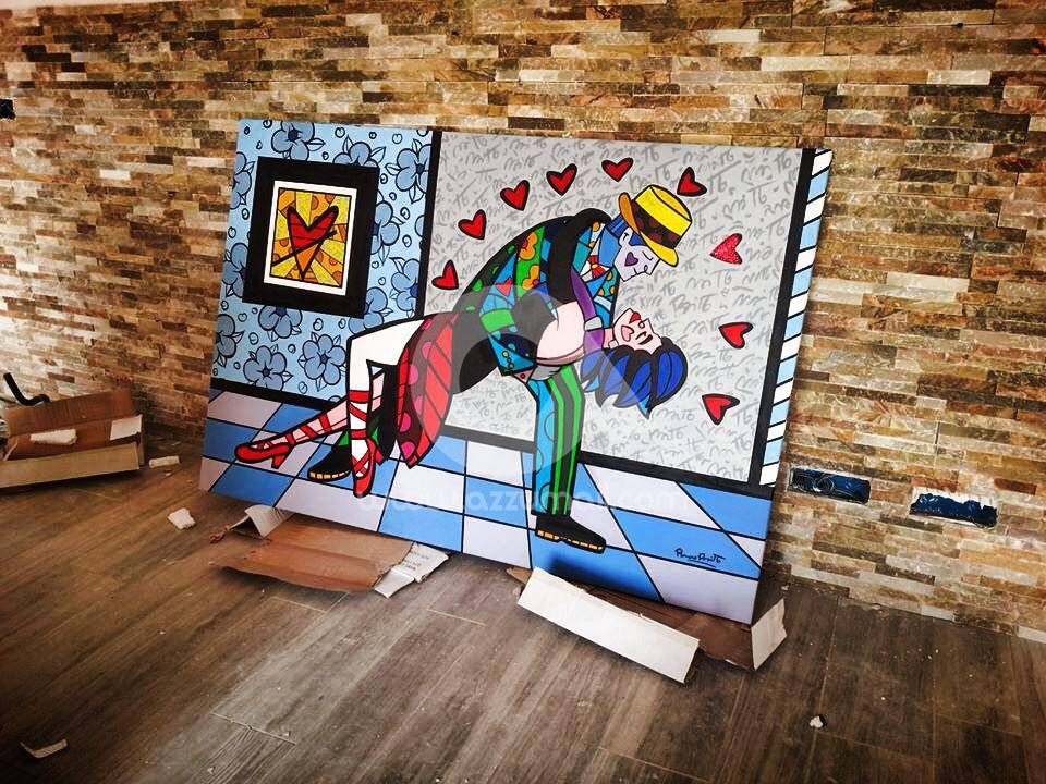 Foto galleria di quadri moderni stile pop art dipinti a for Quadri moderni per salotto