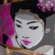 02-dipinto-a-mano-moderno-quadro-ritratto-geisha-personalizzato-malva-e-argento-giappone-japan-oriente-kanjii-idea-regalo-per-arredamento