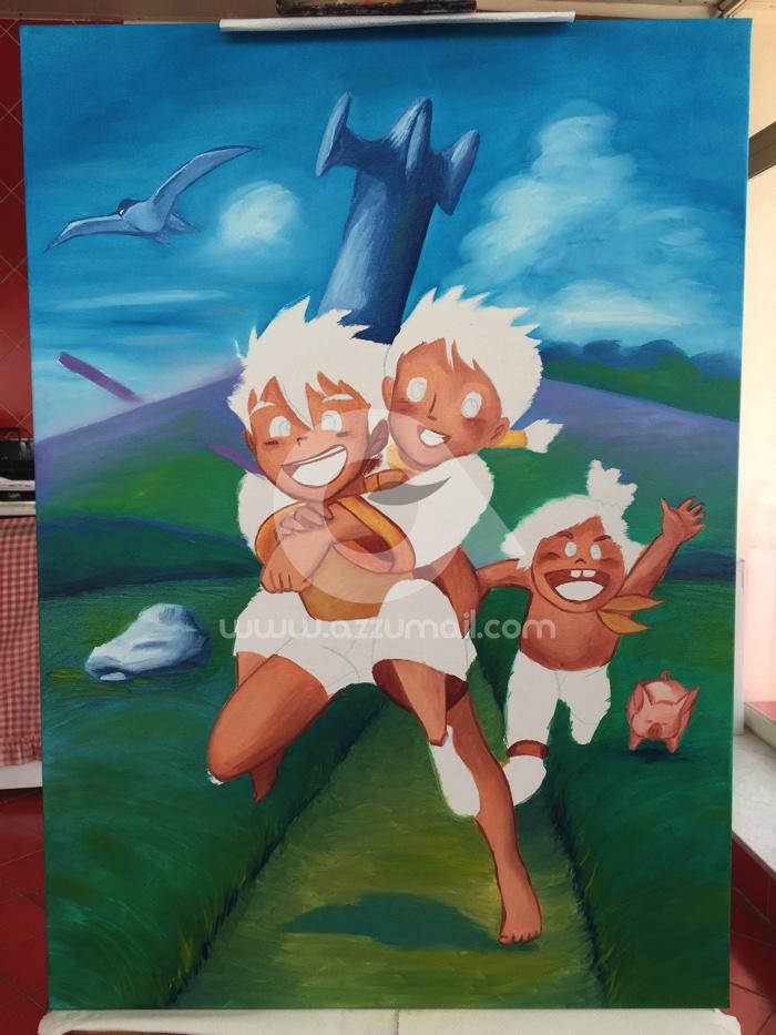 Quadri moderni cartoni animati anni conan il ragazzo