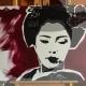 02-quadro-geisha-dipinto-a-mano-moderno-oriente-giappone-maiko-pop-art-popart-idea-arredo-regalo-rosso-japan