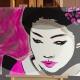 05-dipinto-a-mano-moderno-quadro-ritratto-geisha-personalizzato-malva-e-argento-giappone-japan-oriente-kanjii-idea-regalo-per-arredamento