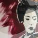07-quadro-geisha-dipinto-a-mano-moderno-oriente-giappone-maiko-pop-art-popart-idea-arredo-regalo-rosso-japan