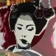 08-quadro-geisha-dipinto-a-mano-moderno-oriente-giappone-maiko-pop-art-popart-idea-arredo-regalo-rosso-japan