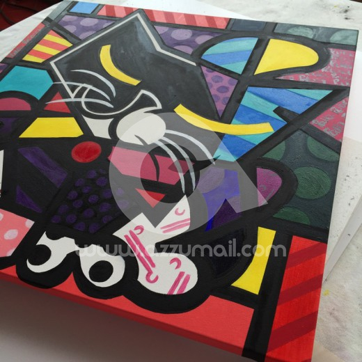 13-ritratto-work-in-progress-romero-britto-inspiration-style-moderno-copia-quadro-gatto