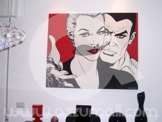 2a-compro-vendo-cerco-offro-quadro-dipinto-a-mano-pop-art-fumetti-diabolik-eva-kant-coppia-amore-lupin-quadri-arredamento-casa-idea-regalo-originale-copia-popart-arte-moderna