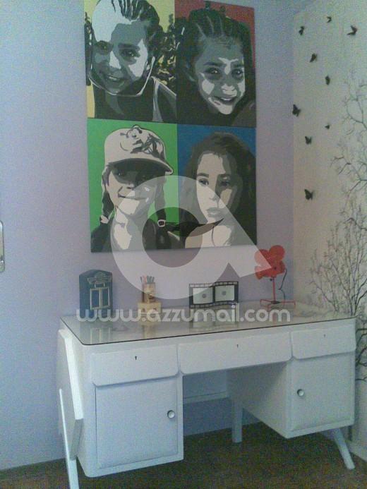 ritratto-quadro-pop-art-da-foto-bambini-fidanzati-bacio-quadri-salotto-idea-regalo-arredo-arredamento-living-colori-dipinto-a-mano-vendita-arte-artista-collaborazioni-matrimonio-cresima-comunione