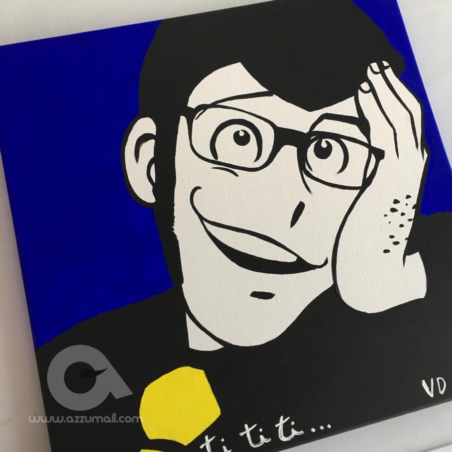 Quadro moderno pop art lupin iii & fujiko mine margot