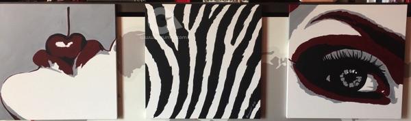 01-quadri-moderni-per-arredamento-idea-regalo-sexy-simboli-sesso-donna-occhi-labbra-rosse-ciliegia-sensuale-zebrato-dipinti-a-mano-arte-azzumail-pop-art