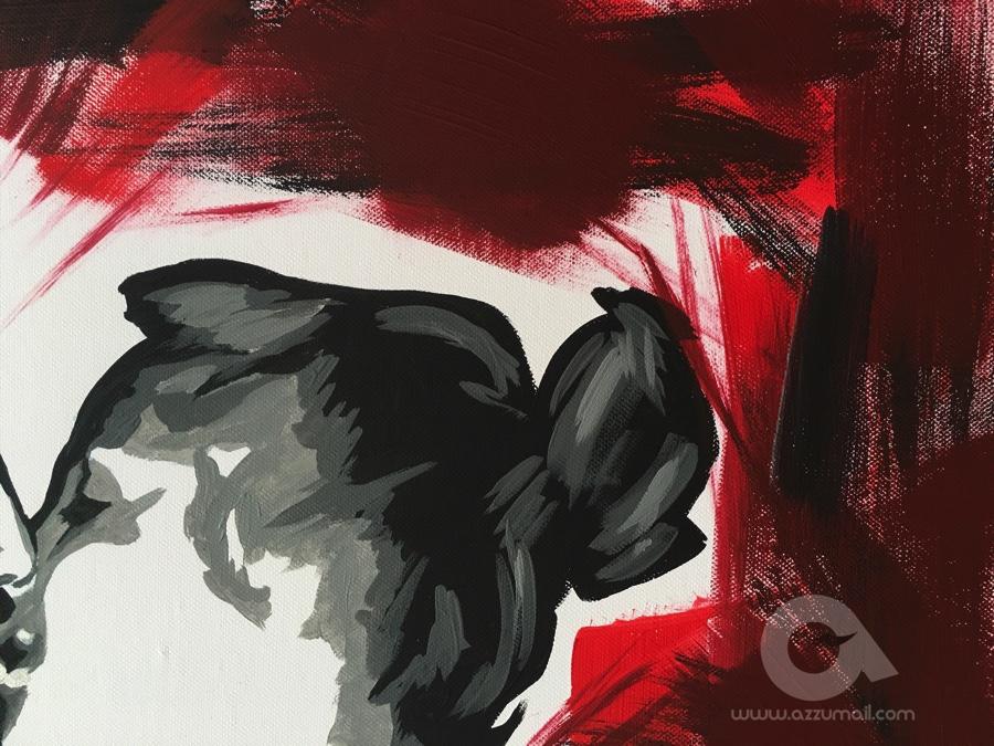 Arredamento Pop Art Milano : Ritratto di coppia pop art quadro moderno dipinto a mano idea