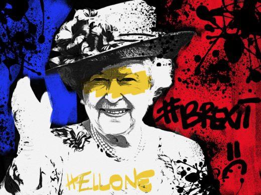 02-brexit-hellone-ciaone-quadro-street-art-dipinto-a-mano-tela-galleria-pronto-da-appendere-mostra-inghilterra-gran-bretagna-regina-elisabetta-queen-elisabeth-azzumail-artista