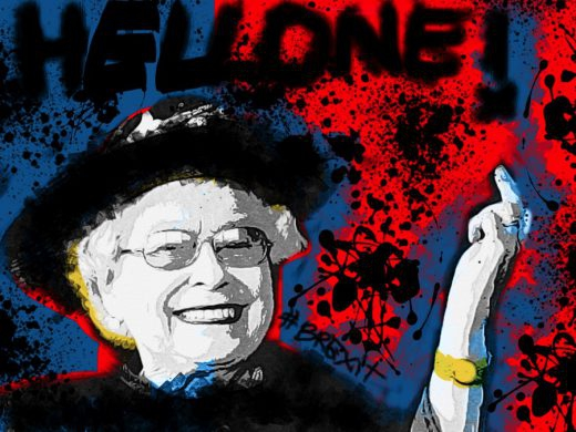 04-brexit-hellone-ciaone-quadro-street-art-dipinto-a-mano-tela-galleria-pronto-da-appendere-mostra-inghilterra-gran-bretagna-regina-elisabetta-queen-elisabeth-azzumail-artista