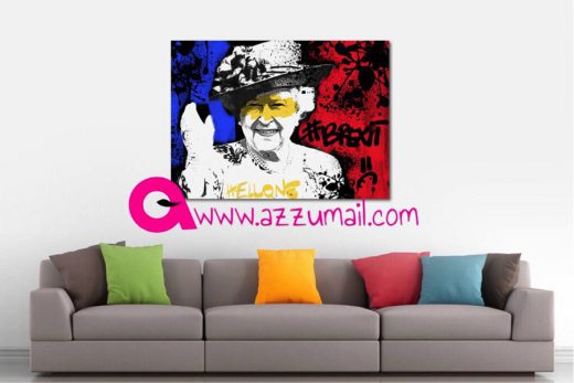 06-brexit-hellone-ciaone-quadro-street-art-dipinto-a-mano-tela-galleria-pronto-da-appendere-mostra-inghilterra-gran-bretagna-regina-elisabetta-queen-elisabeth-azzumail-artista