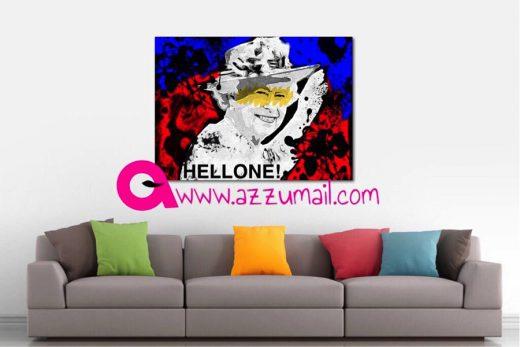 07-brexit-hellone-ciaone-quadro-street-art-dipinto-a-mano-tela-galleria-pronto-da-appendere-mostra-inghilterra-gran-bretagna-regina-elisabetta-queen-elisabeth-azzumail-artista