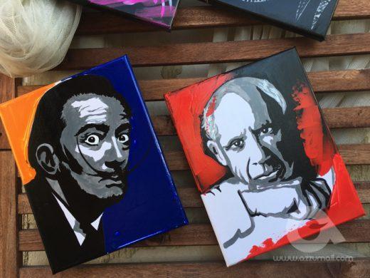 14 ritratti quadri pop art dipinti a mano artisti famosi