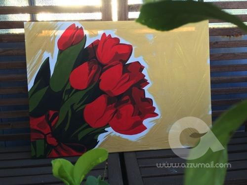 quadro con tulipani   Azzumail quadri Pop Art!