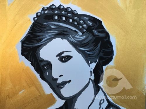 Ritratto Lady D Quadro 70 70 Cm Azzumail Quadri Pop Art