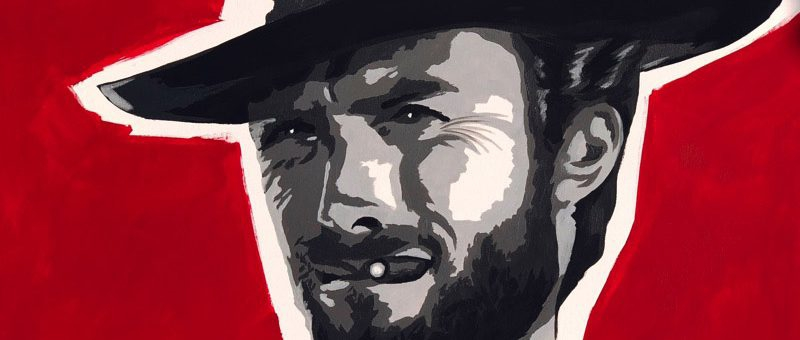 Quadro moderno idea regalo clint eastwood ritratto pop art for Arredamento pop art