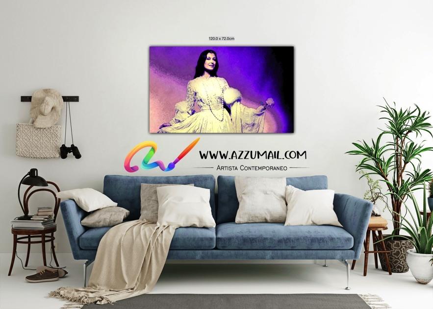 Carla Fracci ritratto pop art moderno quadro personalizzato dipinto a mano idea regalo living arredo arredamento italiano elegante attrice ballerina danza