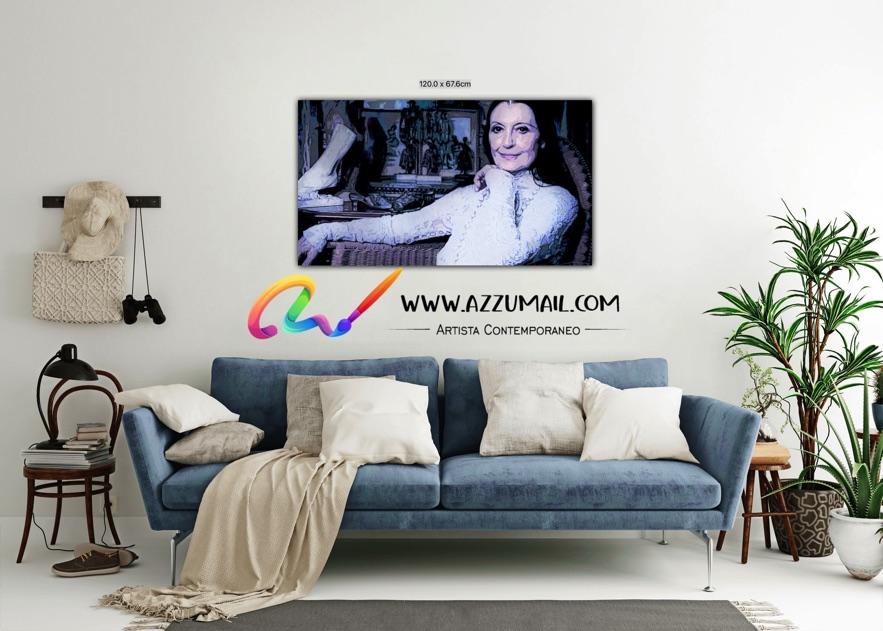 Carla Fracci ritratto pop art moderno quadro personalizzato dipinto a mano idea regalo living arredo arredamento italiano elegante anziana