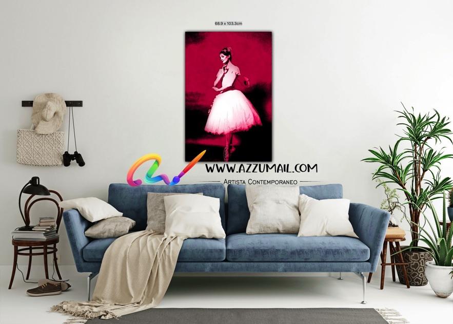 Carla Fracci ritratto pop art moderno quadro personalizzato dipinto a mano idea regalo living arredo arredamento italiano elegante grande rosso