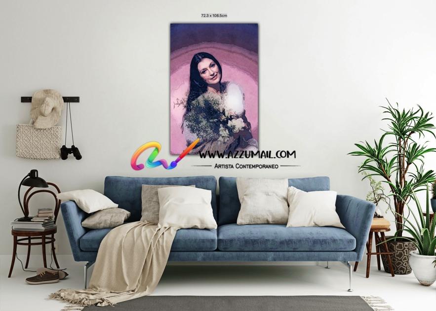 Carla Fracci ritratto pop art moderno quadro personalizzato dipinto a mano idea regalo living arredo arredamento italiano elegante fiori