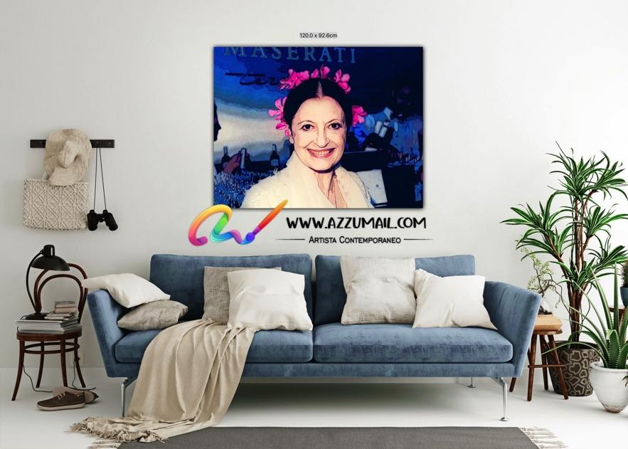 Carla Fracci ritratto pop art moderno quadro personalizzato dipinto a mano idea regalo living arredo arredamento italiano elegante colori brillanti
