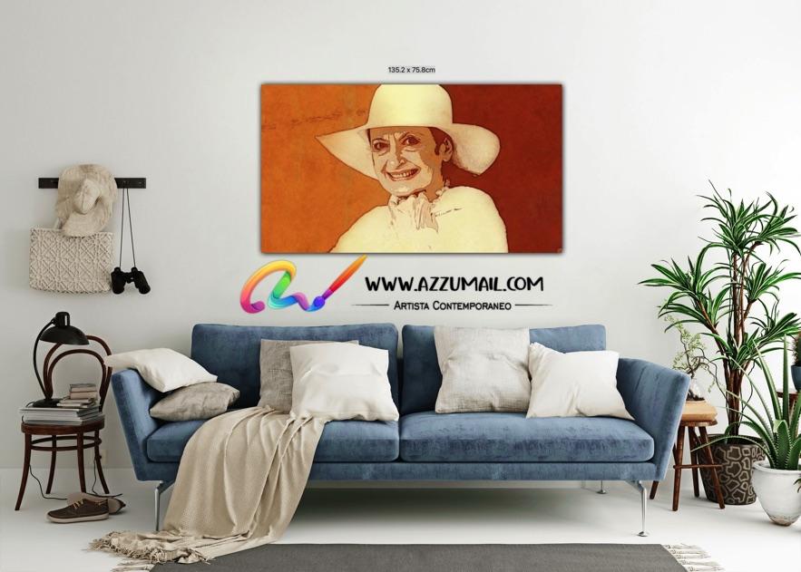 Carla Fracci ritratto pop art moderno quadro personalizzato dipinto a mano idea regalo living arredo arredamento italiano elegante oro dorato