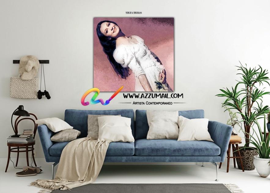Carla Fracci ritratto pop art moderno quadro personalizzato dipinto a mano idea regalo living arredo arredamento italiano elegante