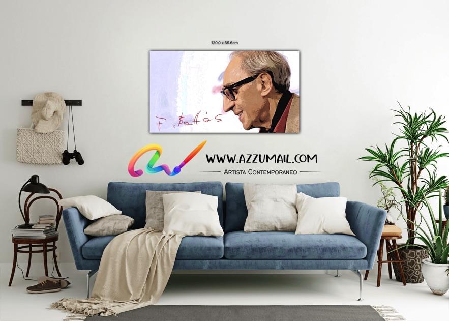 Quadro ritratto pop art dipinto a mano idea regalo arredo arredamento living personalizzato firma