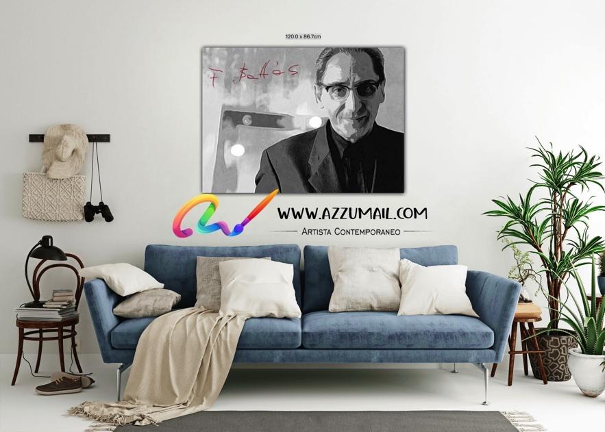 Quadro ritratto pop art dipinto a mano idea regalo arredo arredamento living personalizzato bianco e nero con firma