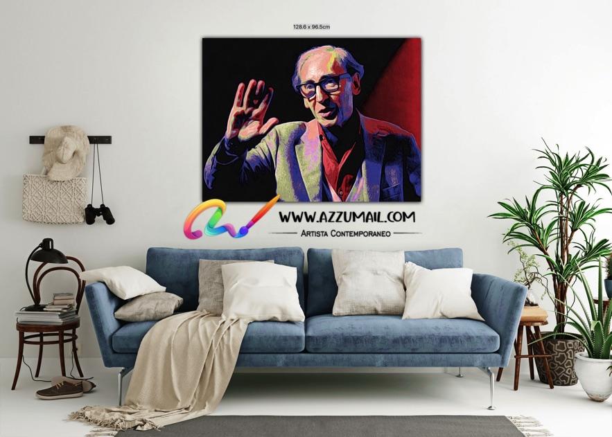 Quadro ritratto pop art dipinto a mano idea regalo arredo arredamento living personalizzato saluta