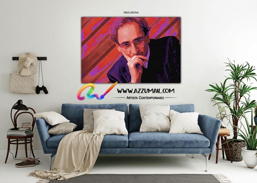 Quadro ritratto pop art dipinto a mano idea regalo arredo arredamento living personalizzato la cura