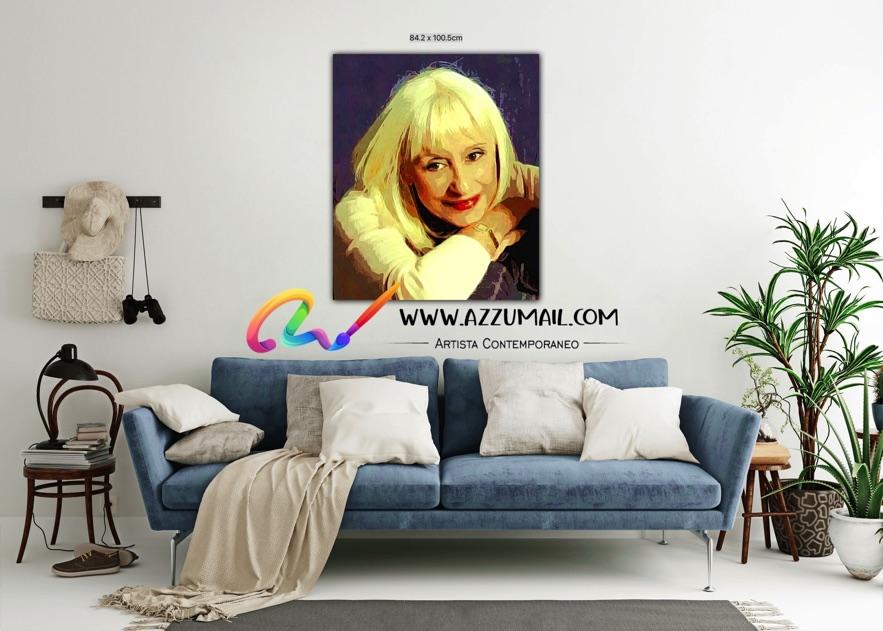 Raffaella Carrà ritratto pop art personalizzato grande originale idea regalo arredo viola