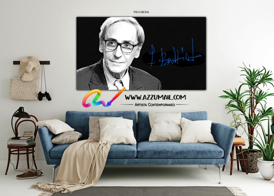 Quadro ritratto pop art dipinto a mano idea regalo arredo arredamento living personalizzato bianco e nero